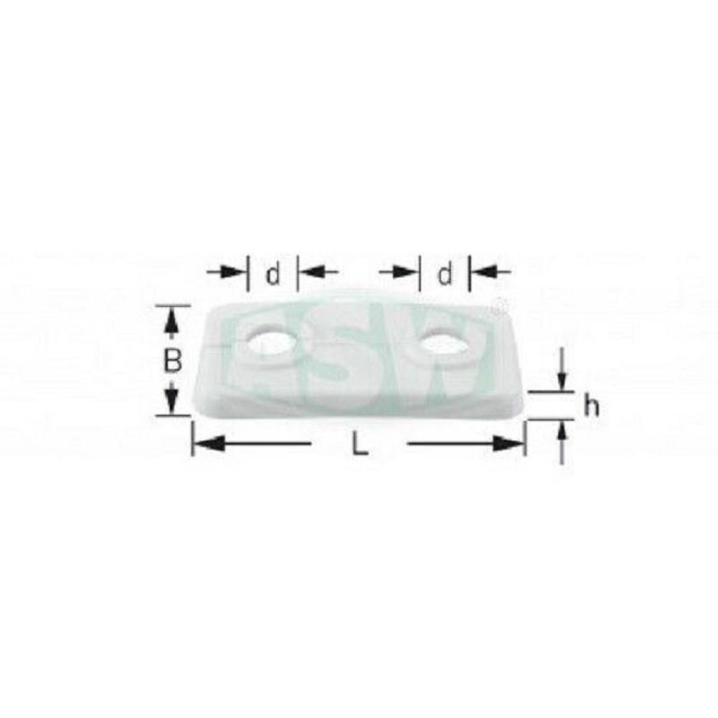 10 Stück Doppelrosetten 15mm für Heizungsrohre weiß Kunststoff ASW RosettenRosetten -10%