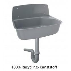 Ausgußbecken mit PP Spülensiphon DN50 Greta grau 100% Recycling-Kunststoff Haas Ausgussbecken und ZubehörAusgussbecken und Zu...
