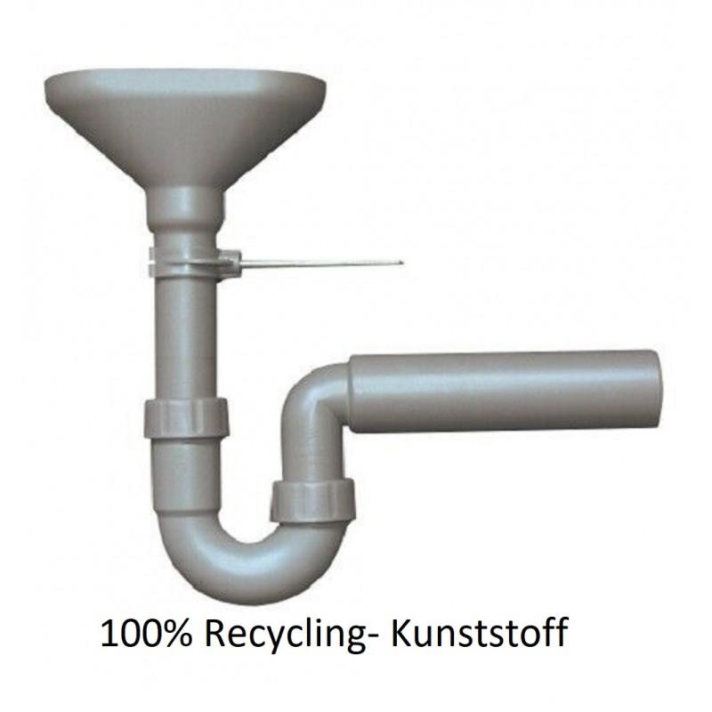 Trichtersiphon DN 50 Ablauf für Kondensat und Leck Wasser grau 100% Recycling Haas Siphon und ZubehörSiphon und Zubehör -10%