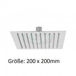 Brausekopf 4corner Edelstahl poliert 200 x 200mm Regendusche ASW Kopfbrausen und SetsKopfbrausen und Sets -10%