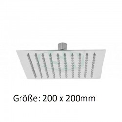 Brausekopf 4corner Edelstahl poliert 200 x 200mm ASW Kopfbrausen und SetsKopfbrausen und Sets -10%