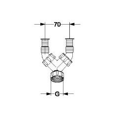 """Kombi- Doppel Geräteanschlusstülle Save 1"""" und 3/4"""" mit Rückflussverhinderer Haas Siphon und ZubehörSiphon und Zubehör -10%"""