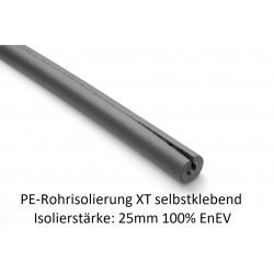 PE Rohrisolierung XT selbstklebend Isolierstärke 25mm 100% EnEV 1m Stangen NMC Deutschland PE Rohrisolierung XT Selbstklebend...