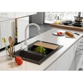 Spülenarmatur mit U-Auslauf Weiß Serie: Milin Deante Küche