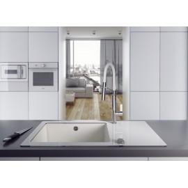 Einloch Spülenarmatur chrom/weiß Serie: Gerbera Deante KücheKüche