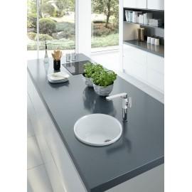 Spülenarmatur mit eckigen Auslauf chrom/weiß Serie: Gardenia Deante KücheKüche