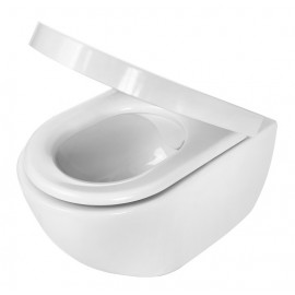 Tiefspül WC ohne Spülrand mit Deckel absenkautomatik Rim Peonia Zero Deante BadkeramikBadkeramik
