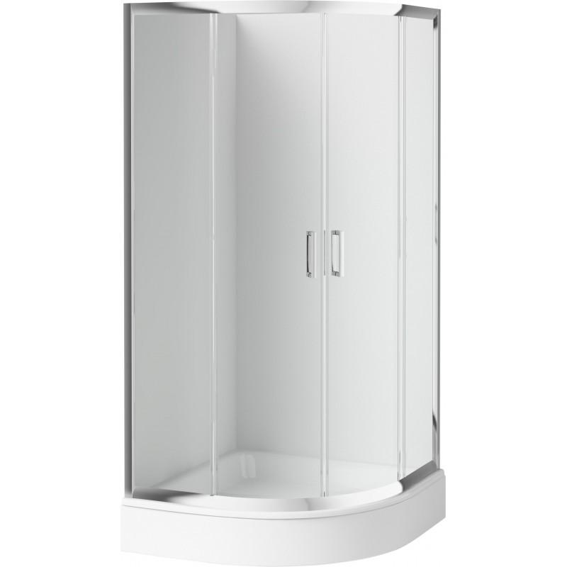 90cm Duschkabine halbrund, Glas transparent Funkia Deante Duschkabinen DuschwannenDuschkabinen Duschwannen -15%