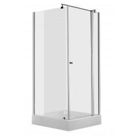 80cm Duschkabine quadratisch, Glas transparent Cubic Deante Duschkabinen DuschwannenDuschkabinen Duschwannen