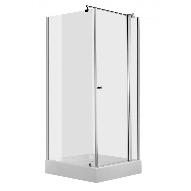 80cm Duschkabine quadratisch, Glas transparent Cubic Deante Duschkabinen DuschwannenDuschkabinen Duschwannen -19%