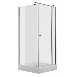 90cm Duschkabine quadratisch, Glas transparent Cubic Deante Duschkabinen DuschwannenDuschkabinen Duschwannen