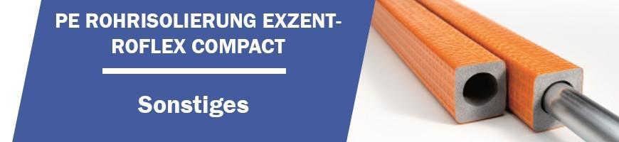 PE Rohrisolierung Exzentroflex Compakt, für niedrigerer Aufbauhöhe