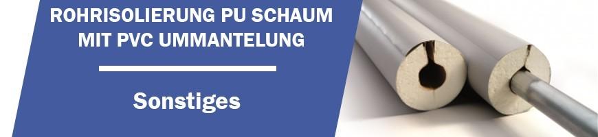 Rohrisolierung mit PVC Ummantelung