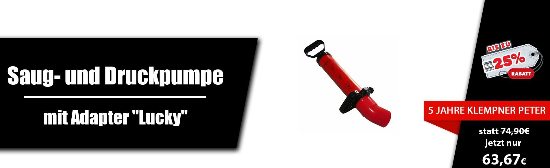 Saug- und Druckpumpe mit Adapter